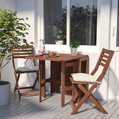 ÄPPLARÖ mesa+2 sillas plegables, exterior