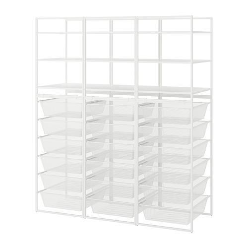 JONAXEL estructura+canastas rejilla estrecha+estantes