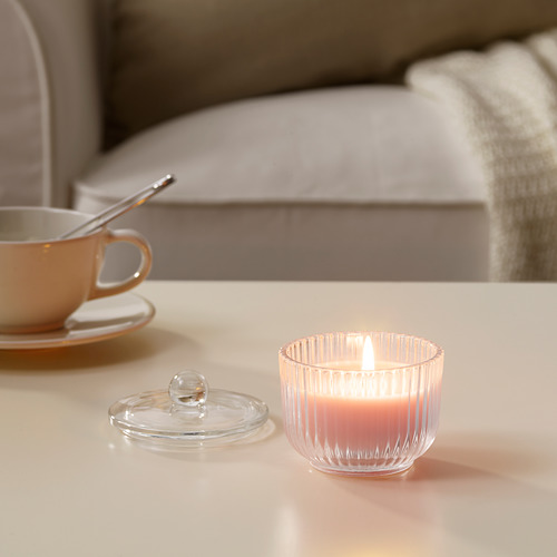 BLOMDOFT scented candle in glass