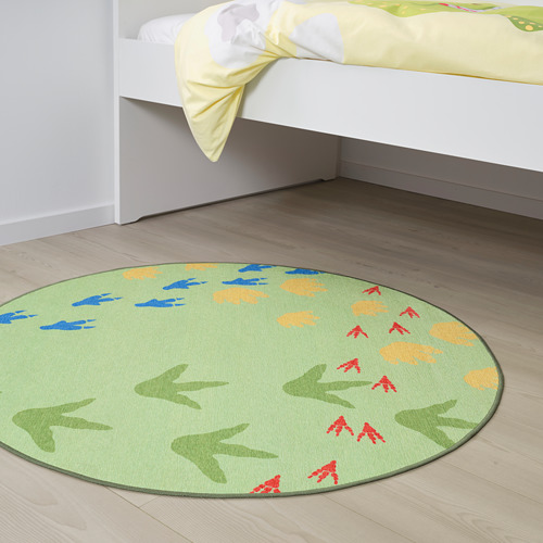"""JÄTTELIK alfombra de tejido liso, 3' 3"""" de diámetro"""