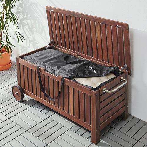 TOSTERÖ/ÄPPLARÖ bench with storage bag, outdoor