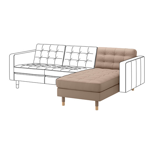 MORABO chaise longue, extension module for sofa
