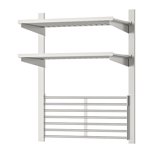 KUNGSFORS suspension rail with shelf+wll grid