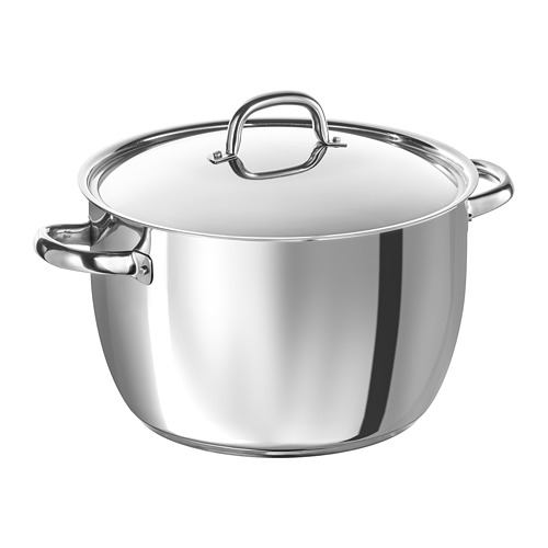 OUMBÄRLIG stock pot with lid