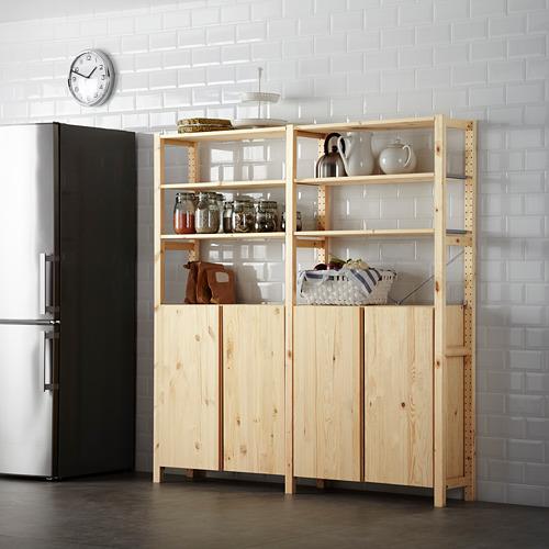 IVAR 2 section shelving unit w/cabinet
