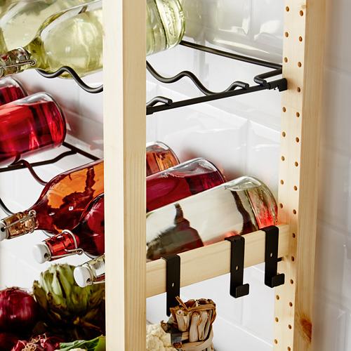 IVAR shelving unit with bottle racks