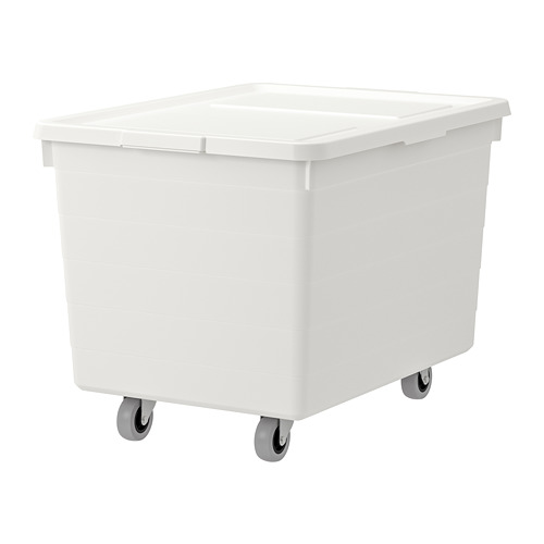 SOCKERBIT box with casters and lid