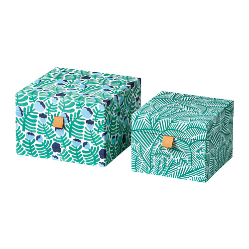 LANKMOJ decorative box, set of 2