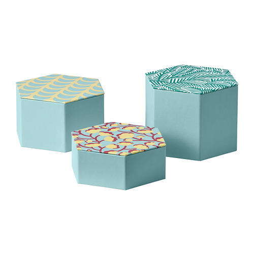 LANKMOJ decorative box, set of 3