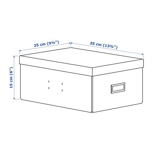 "PALLRA caja de almacenaje con tapa, 9 3/4""x6"""