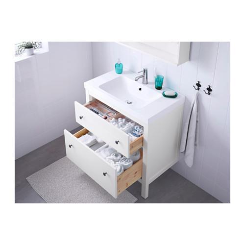 ODENSVIK/HEMNES armario para lavamanos con 2 gavetas, juego de 3