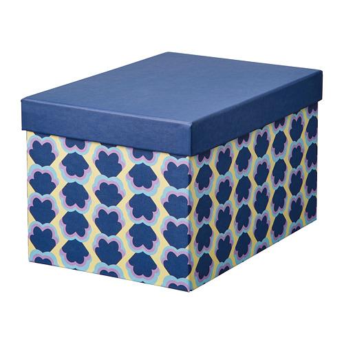 "TJENA caja de almacenaje con tapa, 7""x6"""