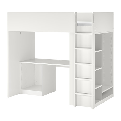 SMÅSTAD armazón litera+escritorio+almcn
