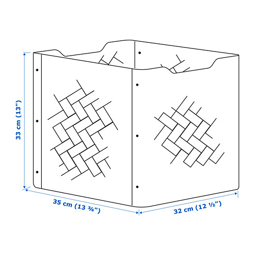 "BULLIG caja, 12 1/2""x13"""