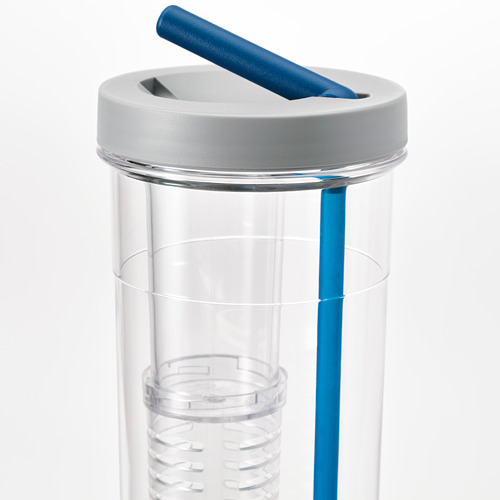 UPPLADDA infuser bottle with straw
