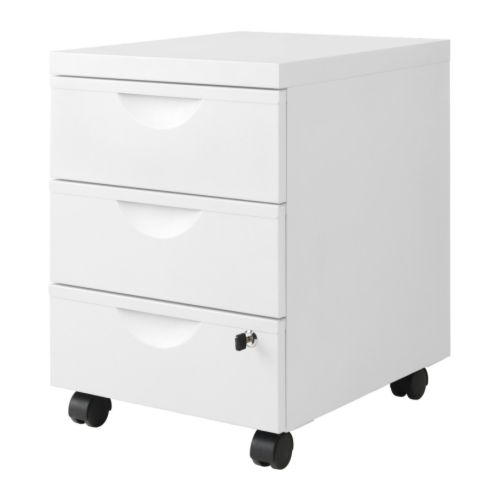 ERIK drawer unit w 3 drawers on casters
