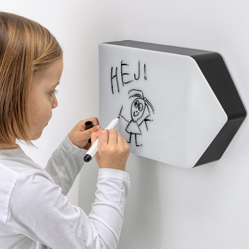 BÄGAREN LED wall lamp and whiteboard