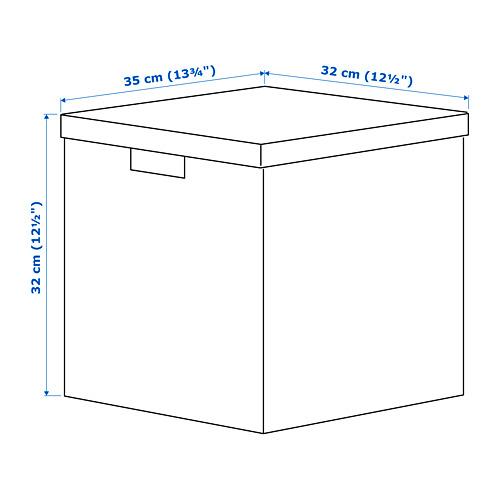 "TJENA caja de almacenaje+tapa, 12 1/2""x12 1/2"""