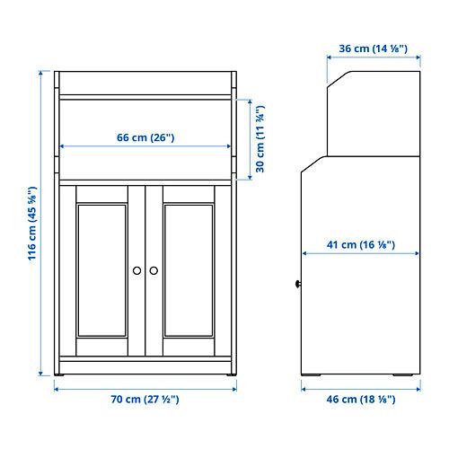 """HAUGA armario con 2 puertas, 27 1/2 """"x18 1/8 """"x45 5/8 """""""