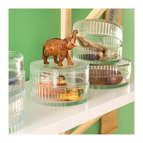 SAMMANHANG glass box with lid
