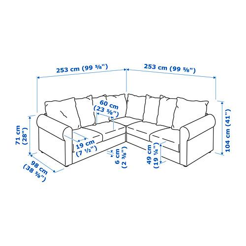 HÄRLANDA  4-seat corner sofa