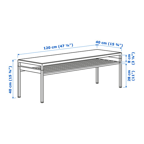 NYBODA mesa centro+tablero reversible