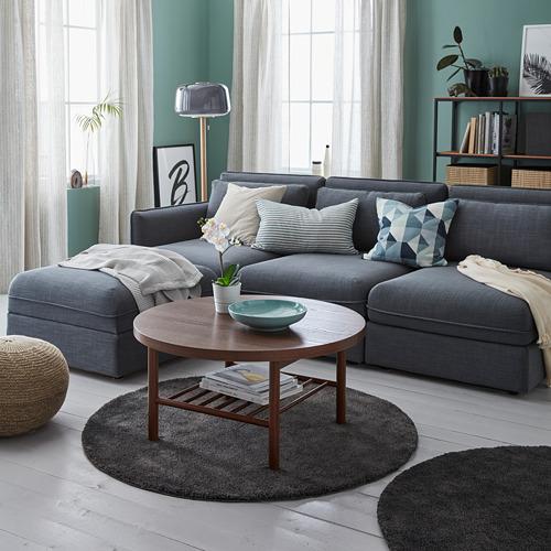 "STOENSE alfombra, pelo corto, Ø4 ' 3 """