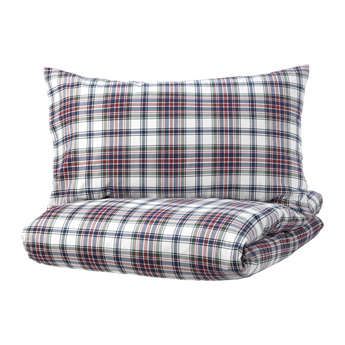 MOSSRUTA duvet cover and pillowcase(s) 86 threads