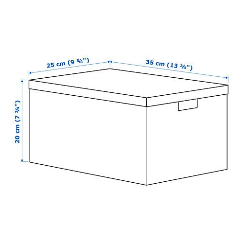 "TJENA caja de almacenaje+tapa, 9 3/4""x7 3/4"""