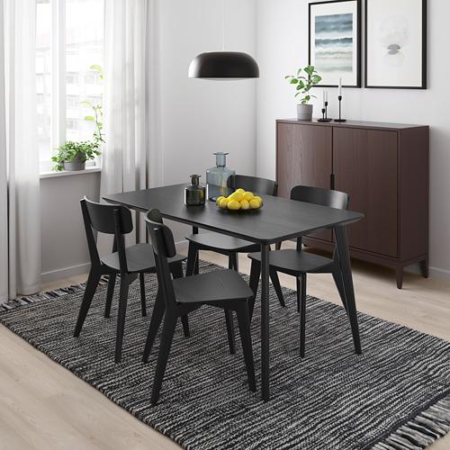 """LISABO/LISABO mesa con 4 sillas, longitud de la mesa 55 1/8"""""""
