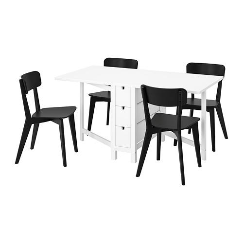 """NORDEN/LISABO mesa extensible con 4 sillas, máximo extensión 59 7/8"""""""