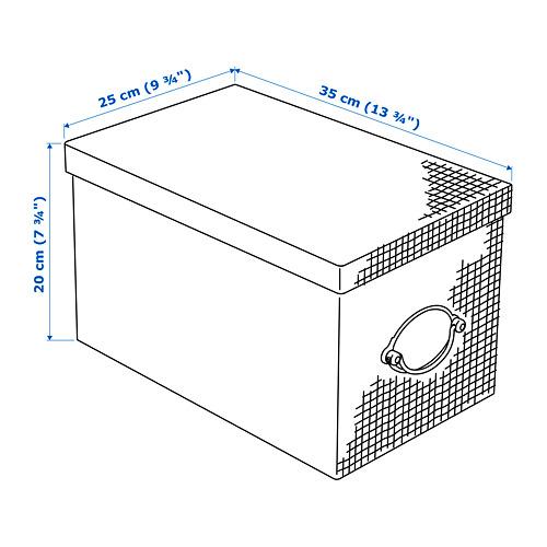 KVARNVIK caja de almacenaje+tapa