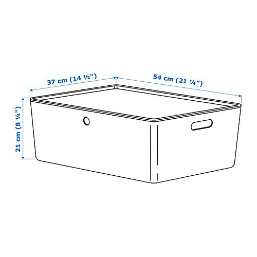 KUGGIS caja de almacenaje+tapa