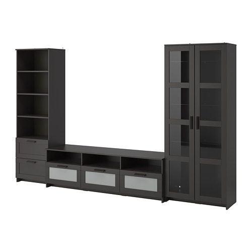 BRIMNES TV storage combination/glass doors