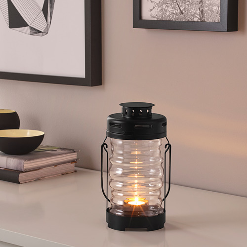 GLIMRANDE lantern f/tealight, indoor/outdoor