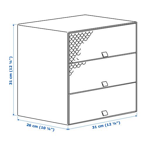 PALLRA mini chest with 3 drawers