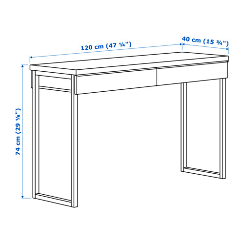 "BESTÅ BURS escritorio,47 1/4 ""x15 3/4 """