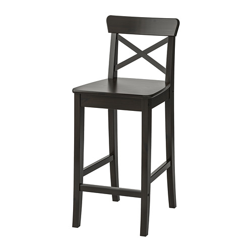 INGOLF bar stool with backrest
