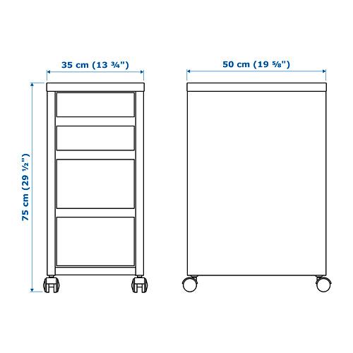 MICKE drawer unit/drop file storage
