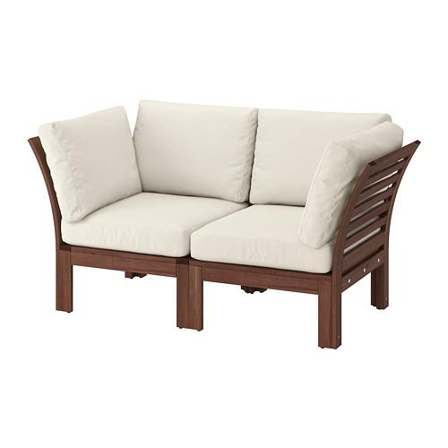 ÄPPLARÖ 2-seat modular sofa, outdoor