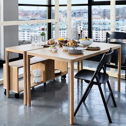 "RÅVAROR mesa auxiliar, 51 1/8"" de longitud"