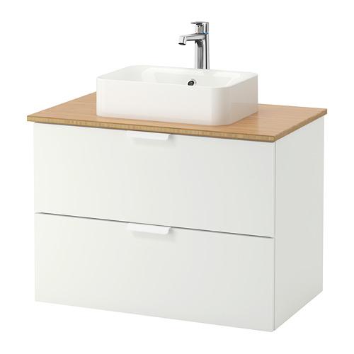 "GODMORGON/TOLKEN/HÖRVIK arm, encm+lavamanos 17 3/4x12 2/8"""