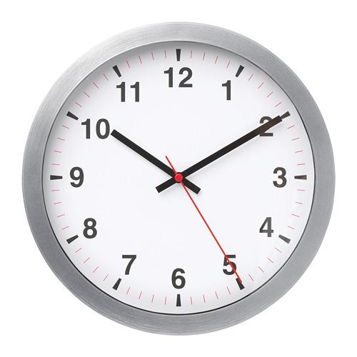 "TJALLA reloj de pared, 11"" de diámetro"