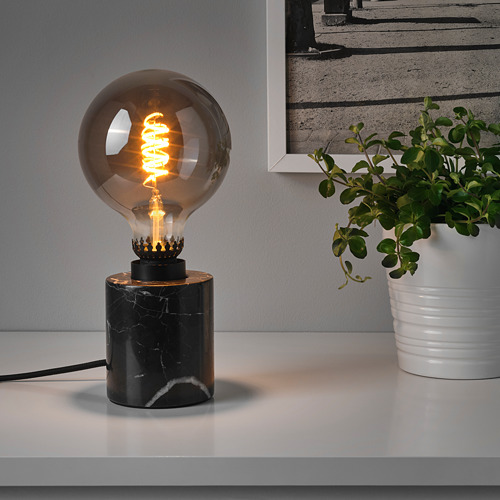 MARKFROST/ROLLSBO table lamp base with LED bulb