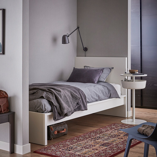 MALM Twin bed with Luröy slatted