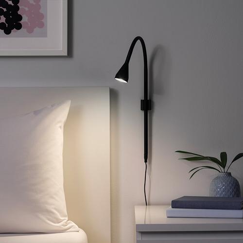 NÄVLINGE foco abrazadera/pared LED integrada