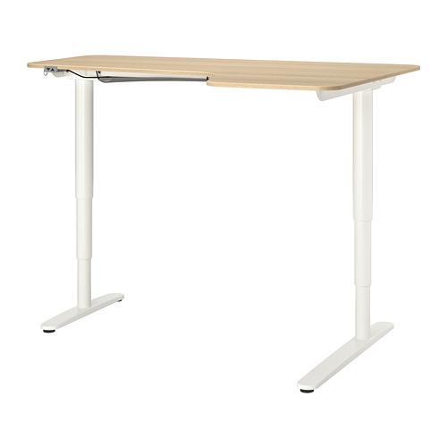 BEKANT escritorio esq derecha sentado/pie