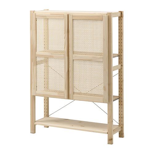 IVAR shelf unit with doors