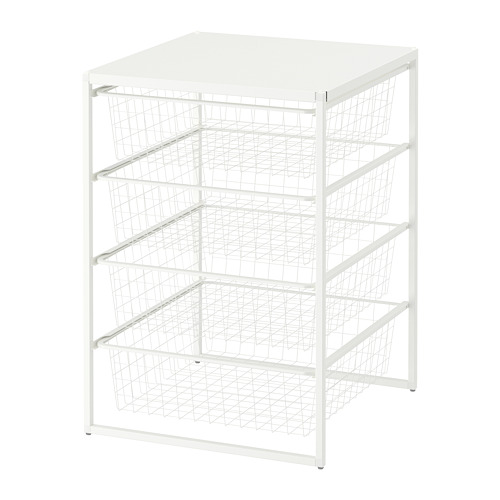 JONAXEL estructura+canastas de rejilla ancha+estante superior