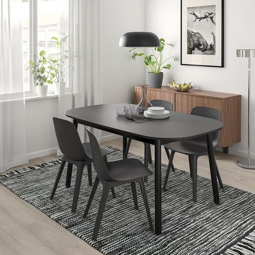 """VEDBO/ODGER mesa con 4 sillas, longitud de la mesa 63"""""""